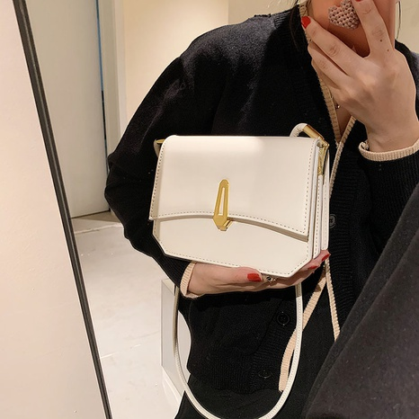 wholesale college style solid color one-shoulder bag Nihaojewelry NHLH397657's discount tags