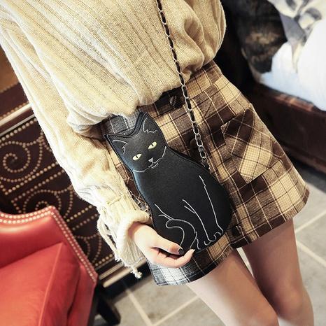 Korean new fashion cat chain diagonal bag wholesale nihaojewelry NHLH397678's discount tags