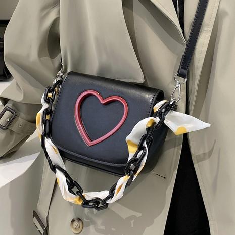 peach heart acrylic thick chain single shoulder messenger handbag wholesale Nihaojewelry NHTG397786's discount tags