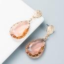 wholesale simple alloy diamondstudded acrylic dropshaped earrings Nihaojewelry  NHLN397863