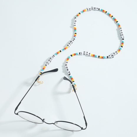 wholesale letters star color beaded hanging neck glasses chain nihaojewelry  NHJQ397921's discount tags