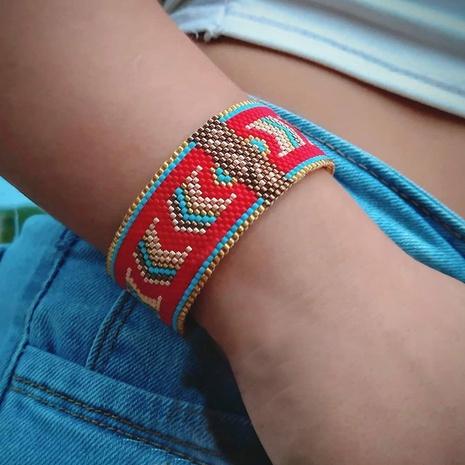 geometric hand-woven Miyuki beads ethnic style bracelet wholesale jewelry Nihaojewelry NHGW397944's discount tags