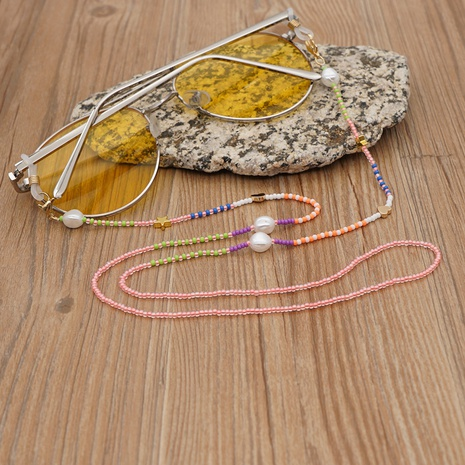 Round bead stained glass miyuki beads star shell glasses chain wholesale nihaojewelry NHYUZ397954's discount tags