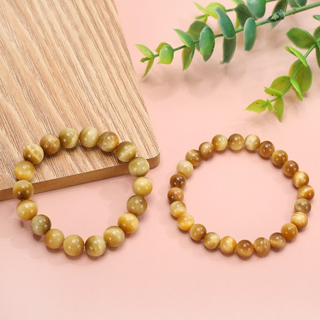 wholesale new natural tiger eye stone elastic rope bracelet Nihaojewelry  NHZR398238's discount tags