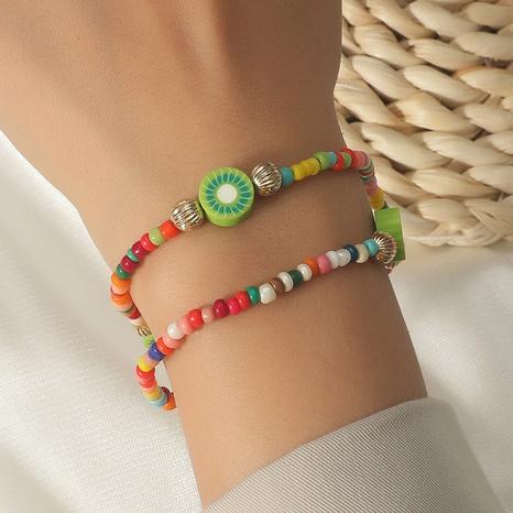 kiwi cute fruit handmade beaded multilayer bracelet wholesale jewelry Nihaojewelry NHLA398295's discount tags