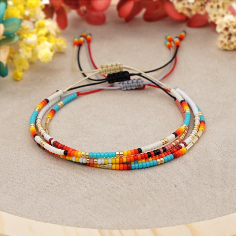 color Miyuki bead woven ethnic style bracelet wholesale jewelry Nihaojewelry NHYUX398341's discount tags