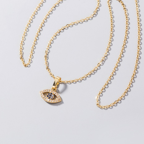 Al por mayor collar de circonitas de ojos de diablo simple Nihaojewelry NHDB398368's discount tags