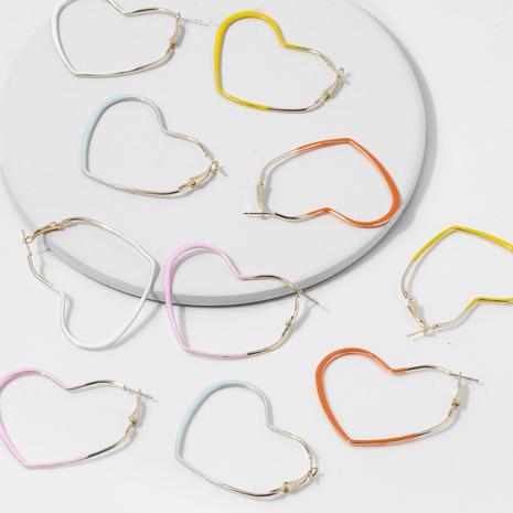 wholesale Korean dripping oil heart copper earrings Nihaojewelry  NHYIA398413's discount tags