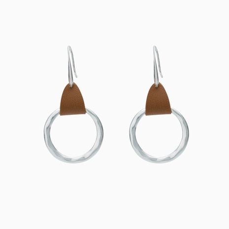 wholesale jewelry large circle pendant copper earrings nihaojewelry  NHDB398436's discount tags