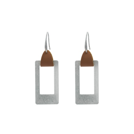 wholesale jewelry hollow square pendant copper earrings nihaojewelry  NHDB398437's discount tags