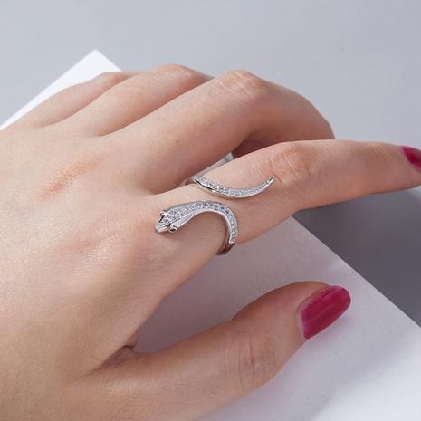 snake-shaped zircon fashion adjustable ring wholesale jewelry Nihaojewelry NHDB398439's discount tags