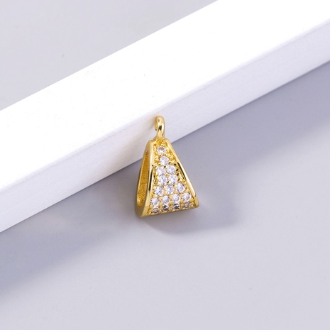 wholesale 18k real gold plated zircon melon seed buckle pendant Nihaojewelry  NHDB398442's discount tags