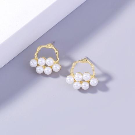 fashion special-shaped geometric pearl copper earrings wholesale nihaojewelry NHDB398445's discount tags