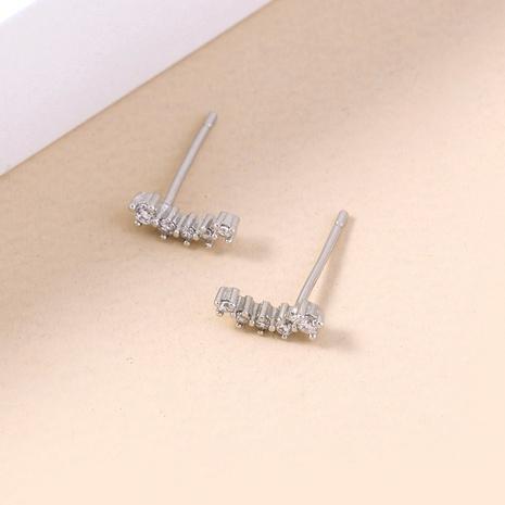 classic star zircon fashion copper earrings wholesale nihaojewelry NHDB398449's discount tags