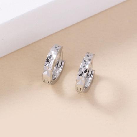 fashion simple geometric pattern buckle copper earrings wholesale nihaojewelry NHDB398450's discount tags