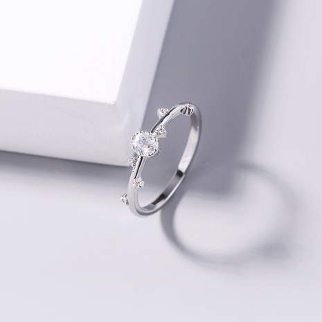 wholesale jewelry branch shape copper inlaid zircon ring nihaojewelry  NHDB398455's discount tags