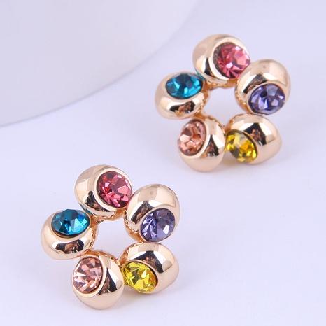 Wholesale Fashion Color Flash Diamond Stud Earrings Nihaojewelry  NHSC400729's discount tags