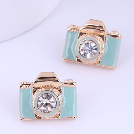 Wholesale Fashion Cute Camera Stud Earrings Nihaojewelry  NHSC400727's discount tags