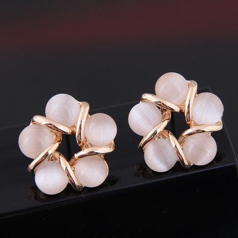 wholesale fashion simple alloy opal stud earrings Nihaojewelry  NHSC400725's discount tags