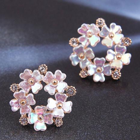 wholesale Korean Fashion Flash Diamond Flower Stud Earrings Nihaojewelry  NHSC400724's discount tags