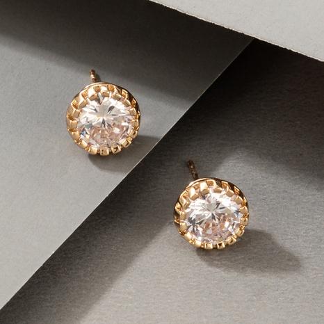 wholesale new fashion diamond metal stud earrings Nihaojewelry  NHGY400712's discount tags