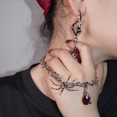 Wholesale spider shape blood drop pendant twist necklace clavicle chain NHQC398923's discount tags