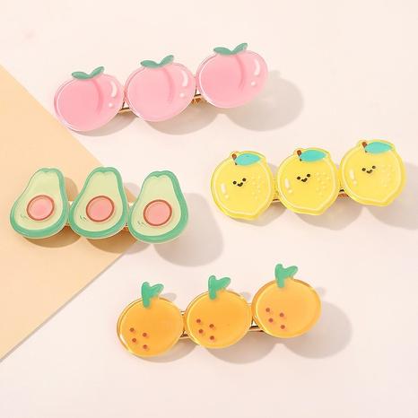 Korean hair clip wholesale fruit clip girl heart duckbill clip bangs clip hair accessories NHQIY398907's discount tags