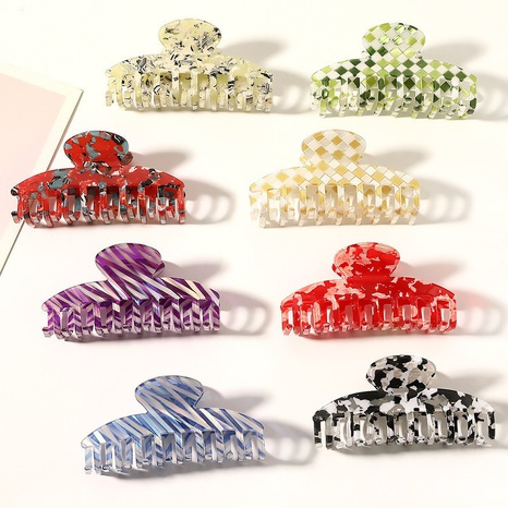 Korean Acetate Keel Hair Clips Wholesale Retro Back Head Clip Hair Accessories NHQIY398911's discount tags