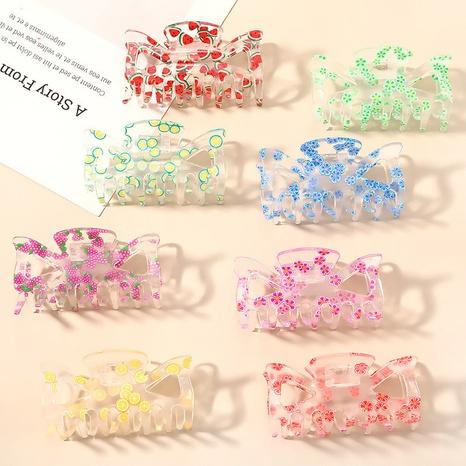 Korean plastic hair clip fruit top clip cute girl's heart hair accessories wholesale NHQIY398913's discount tags
