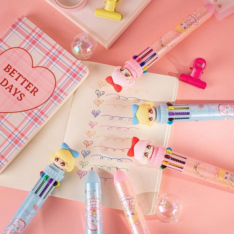 ten-color ballpoint pens
