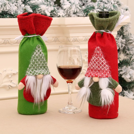 wholesale new Christmas wine bottle set table decoration supplies Nihaojewelry  NHMV399439's discount tags