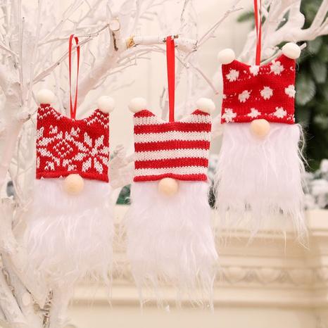 Wholesale New Faceless Dwarf Old Man Christmas Tree Pendant Nihaojewelry  NHMV399441's discount tags