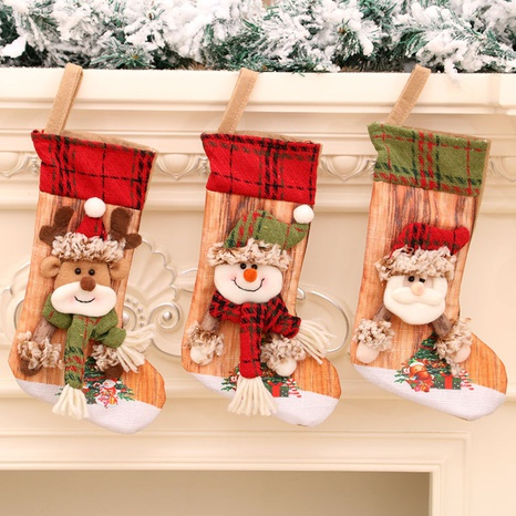 wholesale new three-dimensional printing Christmas stocking gift bag Nihaojewelry  NHMV399443's discount tags