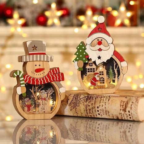 wholesale New Christmas decorations LED luminous Santa Claus Nihaojewelry NHMV399445's discount tags
