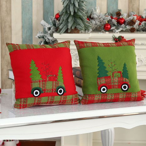 wholesale new flannel embroidered pillowcase Christmas decorations Nihaojewelry NHMV399446's discount tags