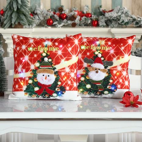 New Christmas Luminous Embroidered Pillowcase Nihaojewelry  NHMV399447's discount tags