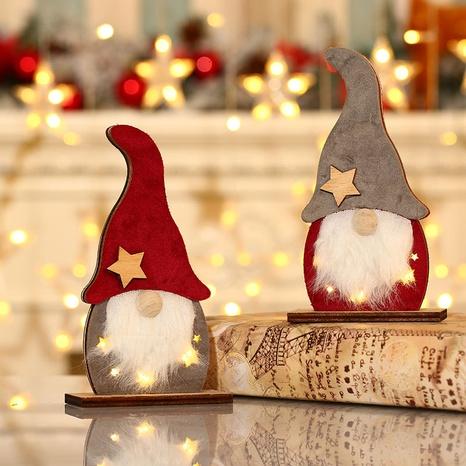 wholesale new LED luminous faceless elderly wooden Christmas ornaments Nihaojewelry  NHMV399450's discount tags