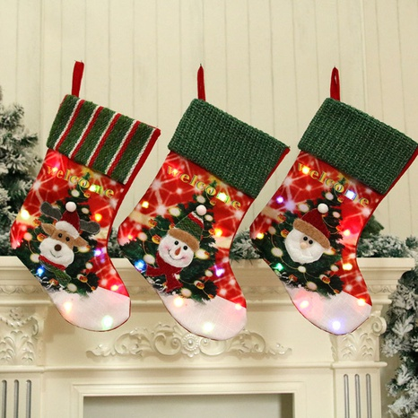wholesale new large LED luminous Christmas socks gift bag Nihaojewelry  NHMV399452's discount tags