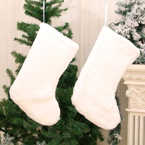wholesale new pure white plush christmas stocking gift bag Nihaojewelry  NHMV399455's discount tags