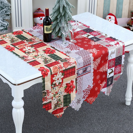 wholesale new Calico table runner Christmas ornaments Nihaojewelry  NHMV399456's discount tags