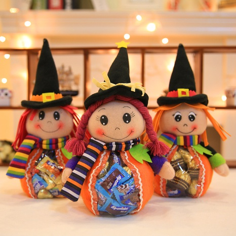 Wholesale New Witch Transparent Candy Bag Halloween Decorations Nihaojewelry  NHHB399471's discount tags