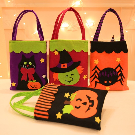 wholesale non-woven stickers tote bag Halloween decoration supplies Nihaojewelry  NHHB399473's discount tags