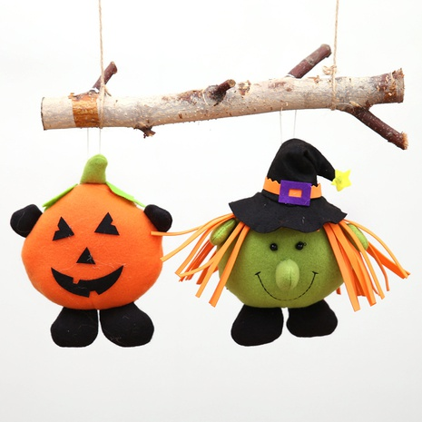 Wholesale New Pumpkin Witch Halloween Decorations Dolls Small Pendants Nihaojewelry  NHHB399477's discount tags