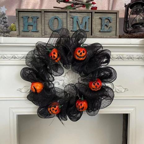 wholesale Halloween Pumpkin Mesh Garland Ghost Festival Wreath Decoration Nihaojewelry NHHB399480's discount tags