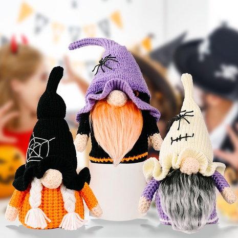 wholesale new Halloween decorations knitting Rudolph doll ornaments Nihaojewelry  NHHB399486's discount tags