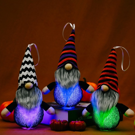 wholesale new knit hat dwarf doll pendant Halloween pendant with light Nihaojewelry  NHHB399488's discount tags