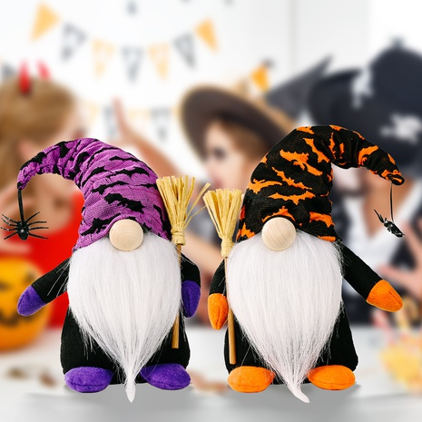 Wholesale New Halloween Decorations Broom Rudolph Standing Doll Nihaojewelry  NHHB399489's discount tags