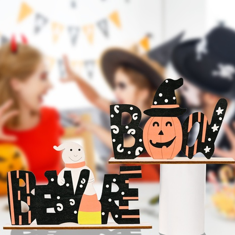 wholesale Halloween wooden alphabet decorations Nihaojewelry NHHB399495's discount tags