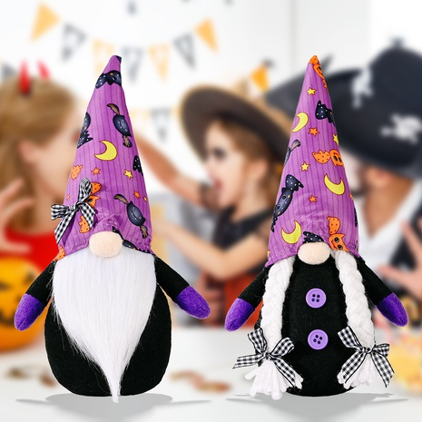wholesale Halloween Rudolph purple faceless doll standing decoration Nihaojewelry NHHB399499's discount tags
