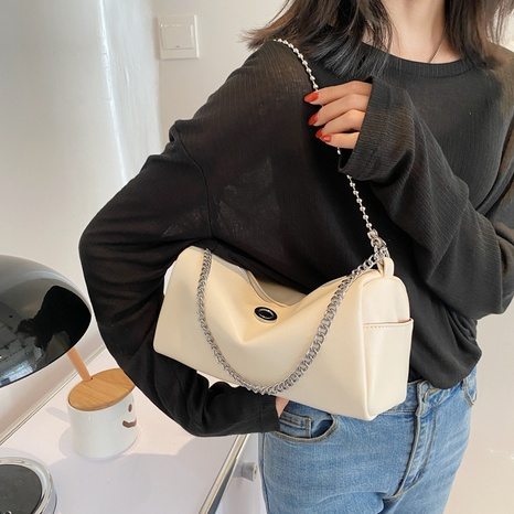 solid color fashion one-shoulder messenger underarm bag wholesale Nihaojewelry NHWH399668's discount tags